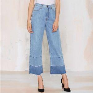 Nasty Gal Mad Crops Wide Leg Highwasted denim jean
